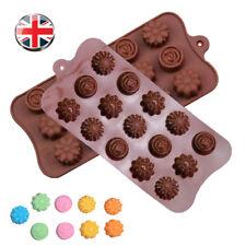 15 Flower Rose Chocolate Cake Soap Silicone Mold Pastry Baking Ice Tray Mould UK