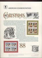 #2399-2400 25c Christmas  USPS #319 Commemorative Stamp Panel