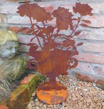 déco AMPHOR fleurs edelrost métal 46CM H.Figurine de jardin de style campagnard