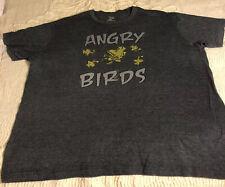 Peanuts Charlie Brown Woodstock Angry Birds Men's S/S Dark Gray T Shirt - 2X
