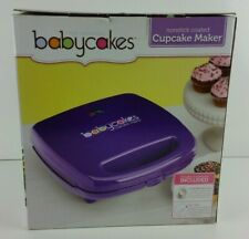 Babycakes 6 Pies or Mini Cupcake Maker Purple Non-Stick Coated Model