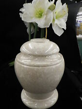 Vase Style Natural Cultured Marble Cremation Urn Stone Urn# 25 Overnight Availb.