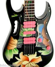 Miniature Guitar Steve Vai Floral Flower Ibanez Jem V Cool