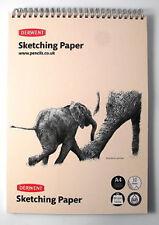 Derwent A5 Portrait Sketch Pad Wirebound Spine 30 Sheets of Acid Free 165gsm