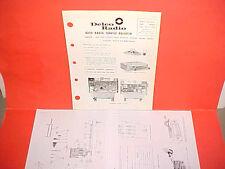 1964 Opel Kadett United Motors Delco Gm Am Radio Service Shop Manual Brochure 64