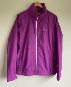 Columbia Size XL Purple Hoodie Windbreaker Jacket Outerwear