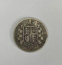 1881 Queen Victoria Half Crown Silver Coin 13.7g Victorian