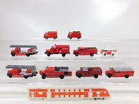 CA359-0,5# 10x Brekina 1:87/H0 Feuerwehr-Modell: MB + VW + Magirus, Bastler/gut