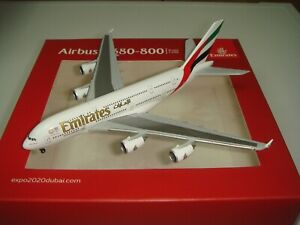 "Herpa Wings 500 Emirates EK A380-800 ""2010s color - Expo 2020 Logo "" 1:500 NG"