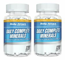 (12,80 Euro/100g) 2er-Pack Body Attack Daily Complete Minerals - 2 x 120 Kapseln