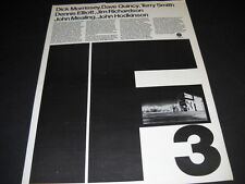 IF Dick Morrissey DAVE QUINCY Dennis Elliott JOHN HODKINSON 197 Promo Poster Ad
