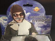 GORRO   CONJUNTO AVIADOR GORRO+ PAÑUELO,  Guerra ,Adulto ,Carnaval,Halloween .21