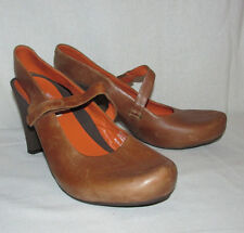"TSUBO ""Acrea"" Tan Brown Genuine Leather Sz 10 Mary Jane Slingback Platform Pumps"