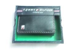 Tommy Hilfiger Cuero Plegable Cartera Triple (Negro) de punto de oro