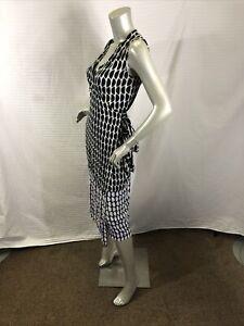 Diana Von  Furstenberg Zalda Sleeveless Wrap Dress Size M