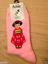 Calcetines marca mujer Achile algodón elastano Talla 35/41 MC MITSUKO ROSA