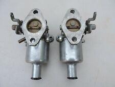 Vintage Pair SU Carburetor AUC 870 AUC 871 JAGUAR MG TRIUMPH HEALEY MINI COOPER