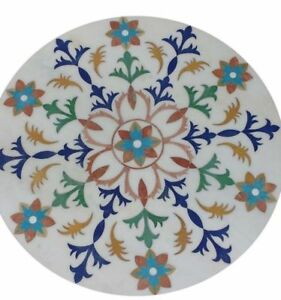"""24"""" Marble Table Pietra Dura Floral Inlay Home furniture decor"""