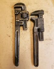 Antique Trimo Adjustable Monkey Wrench Tool Lot -  Trimont Mfg. Co - 12 & 14