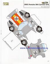 1965 Porsche 904 Carrera paper model cut out Papiermodell découpage recortable