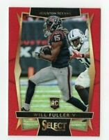 Will Fuller 2016 Panini Select Red RC Rookie Refractor 1/99 Card # 86 Texans