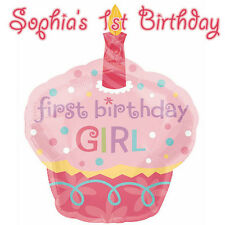 First Birthday Girl Premium Frosting Sheet Cake Topper FREE Personalization