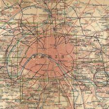 Environs de Paris - - Géographie Plan - Carte ancienne 1903