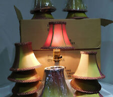 LivexS217 Illusion Bell Clip Chandelier Shade Gold/Burgundy iridescent (1) Shade
