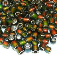 MC135 Assorted 5mm-8mm Round Tube Color Changing Thermo Sensitive Mood Bead 10pc