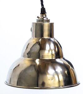 Mid Century Polished Aluminium Pendant Light Shade Coolie Pendant Light Lamp