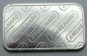ENGELHARD MC 1 OZ TROY SILVER 999+FINE SILVER BAR VERTICAL GLOBE LOGO, w/Serial#