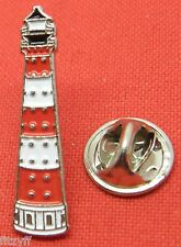 Red & White Lighthouse Lapel Hat Cap Tie Pin Badge Brooch