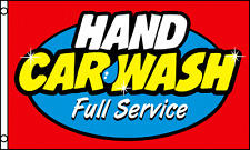 Hand Car Wash Full Service Flag 3' X 5' Indoor Outdoor Multi-Color Banner