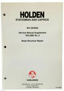 NOS HSV & Holden WH Grange, Statesman Body Structure Repair Service Manual Vol 2