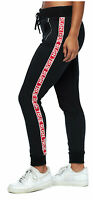 True Religion Women's Logo Trim Jogger Sweatpants in Black