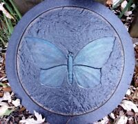 "Butterfly plaque mold plastic cement plaster mould 10"" x 1/3"" thick"