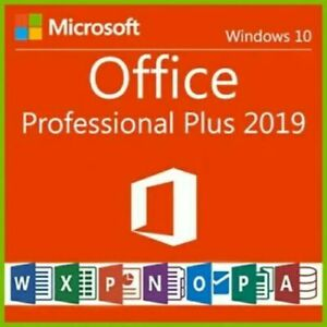 Microsoft Office 2019 Professional Plus @ DEUTSCH @ 1 PC @ Für Windows 10 NEU