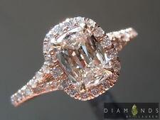 .65ct J SI2 Cushion Cut Diamond Halo Ring GIA R3623 Diamonds by Lauren