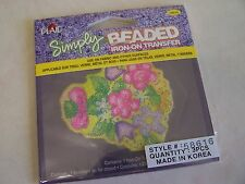 Simply BEADED  Flower Tree  Iron-On  Transfers ( Pack of 3 )