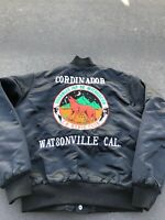 Vintage CB Radio Club Jacket Watsonville California Canal 12 AM GUARDIAS USA M