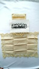 Antique Twelve Bedfordshire Lacemakers linen w/oringal envelope from England!
