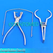Dental Rubber Dam kit Anisworth Punch Plier Stokes Frame basic Endodontic Tools