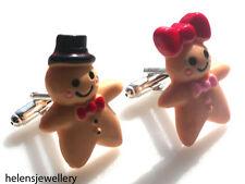 Superbe fait main M. et Mme pain d'épice homme boutons de manchette + sac cadeau gratuit