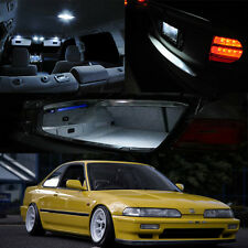 90-93 Integra 2Dr White LED Bulb Full Package Map Dome Trunk Glove Box Courtesy