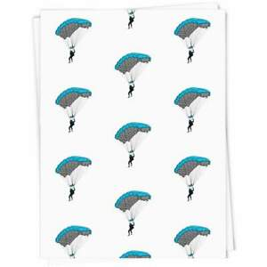 'Man With Parachute' Gift Wrap / Wrapping Paper / Gift Tags (GI029239)