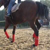 Perfeclan 4pcs Soft Fleece Equestrian Leg Wraps Bandage Horse Riding Racing