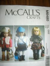 "18"" DOLL McCalls 6480 Pattern Ruffled Skirt Shorts Boots fits American Girl"
