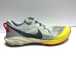 Nike Air Zoom Terra Kiger 6, Grey/Yellow Athletic Running Shoes, Men's 12.5M