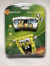 NOS Rare N power Digital Music Player Spongebob Squarepants MP3 WMA Playback 1GB