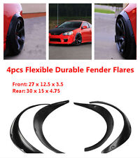 4 Piece Universal style Black Polyurethane Flexible Yet Durable Fender Flares